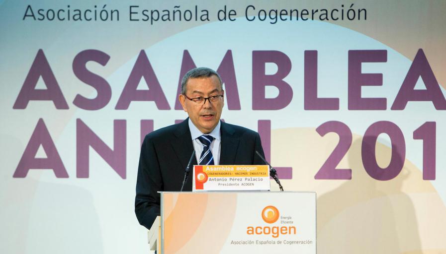 Antonio Pérez, presidente de la Asociación Española de Cogeneración